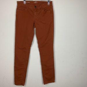 Loft- Orange Modern Skinny Pants size 28
